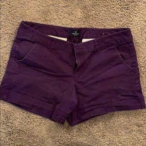 American Eagle Outfitters Purple Midi Shorts
